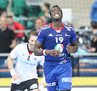 18.01.2013 Barcelona, Spain. IHF men's world championship, prelimanary round. Picture show Luc Abalo    in action during game between France vs Germany at Palau St Jordi