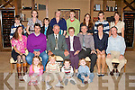 GOLDEN ANNIVERSARY: Eamon and Tess O'Mahony, Ballyvalley enjoying a great time celebrating their 50th anniversary with family and friends at the Fels Point Hotel on Saturdayfront l-r: Rachel O'Sullivan and Michael, Finnan and Eamon O'Mahony. Seated l-r: Anne, Noel, Eamon, Tess, Paid, Mary and Ed O'Mahony, Back l-r: Eoin Emma and Eamon O'Sullivan, Irene, Stephen, Beth, David and Frankie O'Mahony.