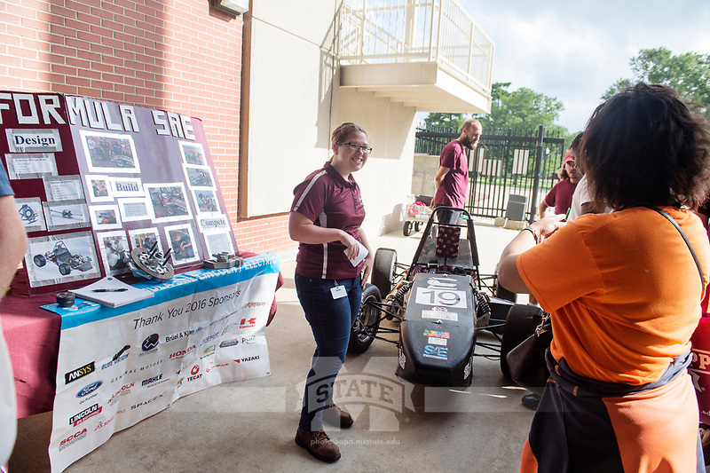 Orientation for incoming students and their parents: Student Activities Fair under Davis Wade Stadium.  Formula SAE.<br />  (photo by Megan Bean / &copy; Mississippi State University)