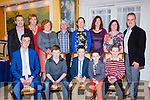 Gneeveguilla and Killarney Valley athletes and their families at the Kerry AA awards in the Dromhall Hotel on Saturday night front row l-r: Matthew Collins, Donal daly, Jack O'Leary, Oisin o'Leary, Cian lynch. Back row: Con Lynch, Sheila O'donoghue, Cynthia daly, Kevin daly, Martina lynch, Annette O'Nrien, Geraldine O'Leary and Aeneas o'Leary