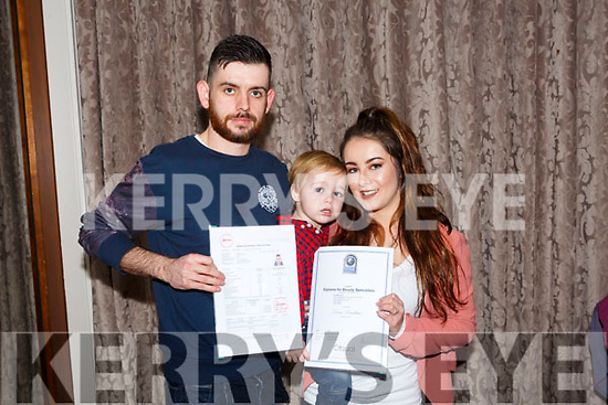 At the Kerry ETB  Graduations in the rose Hotel on Thursday were Daniel O'Connell, Welding  and Dara Lenihan, Beauty Therapist with Cian Lenihan