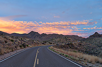 Sunset at Ross Maxwell Scenic Drive -<br />