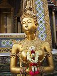 Goddess statue at the Grand Palace in Bangkok, Thailand.