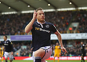 17th March 2019, The Den, London, England; The Emirates FA Cup, quarter final, Millwall versus Brighton and Hove Albion; Alex Pearce of Millwall celebrates after scoring his sides 1st goal in the 70th minute to make it 1-0