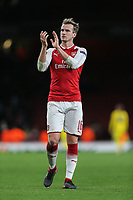 Rob Holding of Arsenal after the UEFA Europa League match between Arsenal and FC BATE Borisov  at the Emirates Stadium, London, England on 7 December 2017. Photo by David Horn.