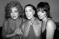 Elizabeth Taylor Martha GRaham Liza Minnelli 1978<br /> Photo By Adam Scull/PHOTOlink.net