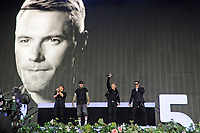 LONDON, ENGLAND - SEPTEMBER 9: Michael Graham, Shane Lynch, Ronan Keating and Keith Duffy of 'Boyzone' performing at BBC Radio 2 Live in Hyde Park, on September 9, 2018 in London, England.<br /> CAP/MAR<br /> &copy;MAR/Capital Pictures