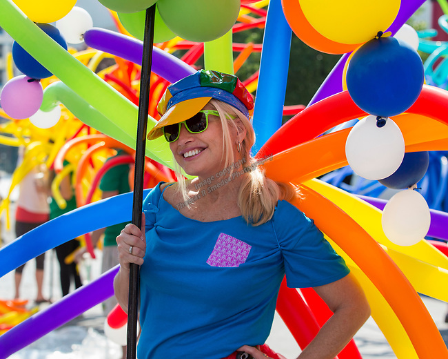 About Town Deb during the Pride Parade in downtown Reno on Saturday, July 28, 2018.