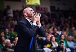 S&ouml;dert&auml;lje 2014-04-26 Basket SM-final S&ouml;dert&auml;lje Kings - Norrk&ouml;ping Dolphins :  <br /> tr&auml;nare headcoach coach Vedran Bosnic reagerar<br /> (Foto: Kenta J&ouml;nsson) Nyckelord:  S&ouml;dert&auml;lje Kings SBBK Norrk&ouml;ping Dolphins SM-final Final T&auml;ljehallen portr&auml;tt portrait