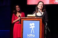The Netherlands, Amsterdam, 25 November 2011. The Award ceremony International Documentary Film Festival Amsterdam 2011. Jessica Gorter, Winner Best Dutch Documentary for '900 Days'. Photo: 31pictures.nl / (c) 2011, www.31pictures.nl