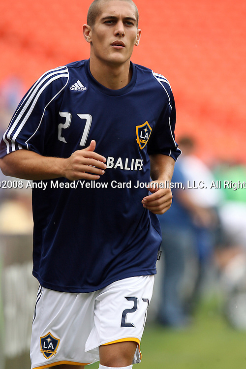 13 September 2008: LA's Bryan Jordan. The Kansas City Wizards defeated the Los Angeles Galaxy 2-0 at Arrowhead Stadium in Kansas City, Missouri in a 2008 Major League Soccer regular season game.