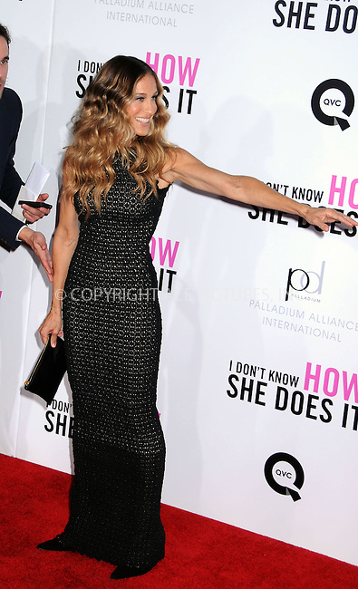 WWW.ACEPIXS.COM . . . . .  ....September 12 2011, New York City....Actress Sarah Jessica Parker arriving at Thepremiere of 'I Don't Know How She Does It' at AMC Loews Lincoln Square on September 12, 2011 in New York City. ....Please byline: JOE EAST - ACE PICTURES.... *** ***..Ace Pictures, Inc:  ..Philip Vaughan (212) 243-8787 or (646) 679 0430..e-mail: info@acepixs.com..web: http://www.acepixs.com