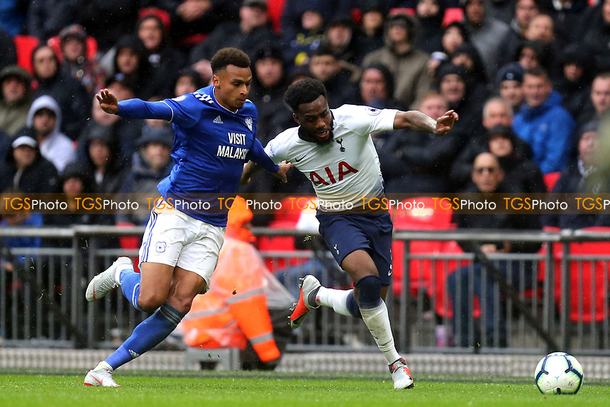 Danny Rose of Tottenham Hotspur/ during Tottenham Hotspur vs Cardiff City, Premier League Football at Wembley Stadium on 6th October 2018
