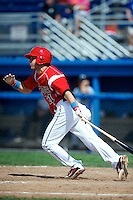 Batavia Muckdogs outfielder Garrett Wittels #21 during a game against the Staten Island Yankees at Dwyer Stadium on July 29, 2012 in Batavia, New York.  Batavia defeated Staten Island 10-2.  (Mike Janes/Four Seam Images)