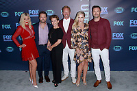 NEW YORK, NY - MAY 13: Tori Spelling, Jason Priestley, Gabrielle Carteris, Ian Ziering, Jennie Garth and Brian Austin Green at the FOX 2019 Upfront at Wollman Rink in Central Park, New York City on May 13, 2019. <br /> CAP/MPI99<br /> &copy;MPI99/Capital Pictures