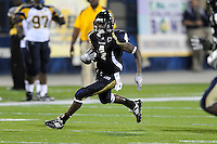 26 September 2009:  FIU wide receiver T.Y. Hilton (4) runs after a catch in the second quarter of the Toledo 41-31 victory over FIU at FIU Stadium in Miami, Florida.