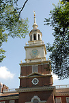 Independence Hall, exterior, .Philadelphia, Pennsylvania, PA USA.  Photo copyright Lee Foster, 510-549-2202, lee@fostertravel.com, www.fostertravel.com. Photo 268-30911