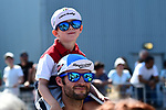 Fans at sign before the start of Stage 8 of the 2018 Tour de France running 181km from Dreux to Amiens Metropole, France. 14th July 2018. <br /> Picture: ASO/Alex Broadway | Cyclefile<br /> All photos usage must carry mandatory copyright credit (&copy; Cyclefile | ASO/Alex Broadway)