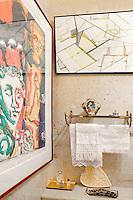 paintings in the bathroom