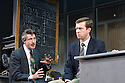 Glengarry Glen Ross by David Mamet ,directed by James MacDonald.  With Aidan Gillen as Richard Roma, Tom Smith as James Lingk Opens at Apollo Theatre on  10/10/07. CREDIT Geraint Lewis