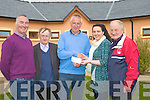 NICE ONE: A nice one Leona Crean of Lee Drive, Tralee as she was the lucky winner of one of St Pats Big Lotto GAA Cheque of EUR8,000 presenting the cheque to Leona was Chairman of the Club Jimmy Mulligan. L-r: Mike Crean,(secetrary) Jim Savage (Treasurer), Jimmy Mulligan (Chairman), Leona Crean and Christy Murphy(joint treasurer)...