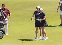 Kailua Kona, HI - October 25, 2016: The Stanford Cardinal compete at the PAC 12 Women's Golf Preview at Nanea Golf Club.