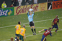 Real Salt Lake's goalie Scott Garlick makes a save against Los Angeles Galaxy in the second half at the Home Depot Center in Carson, CA on Saturday, May 13, 2006. RSL defeated L.A. 3-0.