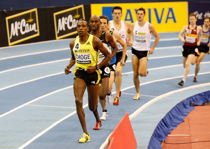 Photo: Richard Lane/Richard Lane Photography..Aviva Grand Prix. 21/02/2009. Kenya's Augustine Choge leads in the Men's 800m.