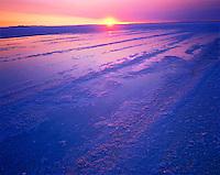 Summer Sunrise on the Bonneville Salt Flats, Utah