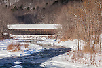 The Lincoln covered bridge in Woodstock, VT, USA