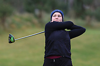 Julia Myklebust (NOR) on the 1st tee during Round 1 of the Irish Girls U18 Open Stroke Play Championship at Roganstown Golf &amp; Country Club, Dublin, Ireland. 05/04/19 <br /> Picture:  Thos Caffrey / www.golffile.ie