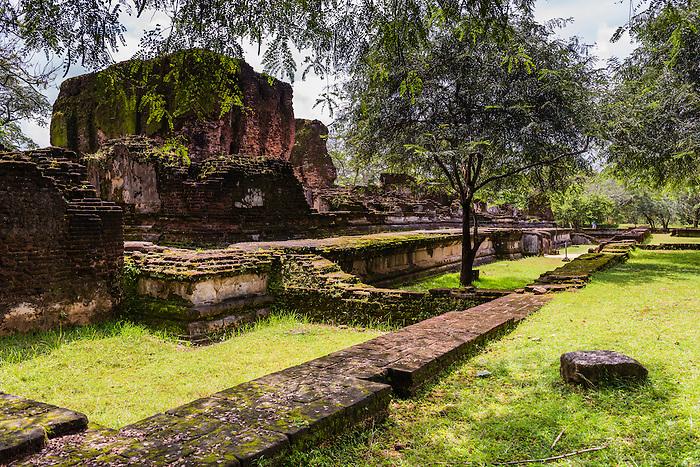 Ancient City of Polonnaruwa, ruins of the Royal Palace (Parakramabahu's Royal Palace), UNESCO World Heritage Site, Sri Lanka, Asia. This is a photo of ruins at the Royal Palace (Parakramabahu's Royal Palace) in the Ancient City of Polonnaruwa, a UNESCO World Heritage Site in the Cultural Triangle of Sri Lanka, Asia.