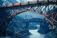 Railway bridge, Fraser River, Lytton, BC Canada
