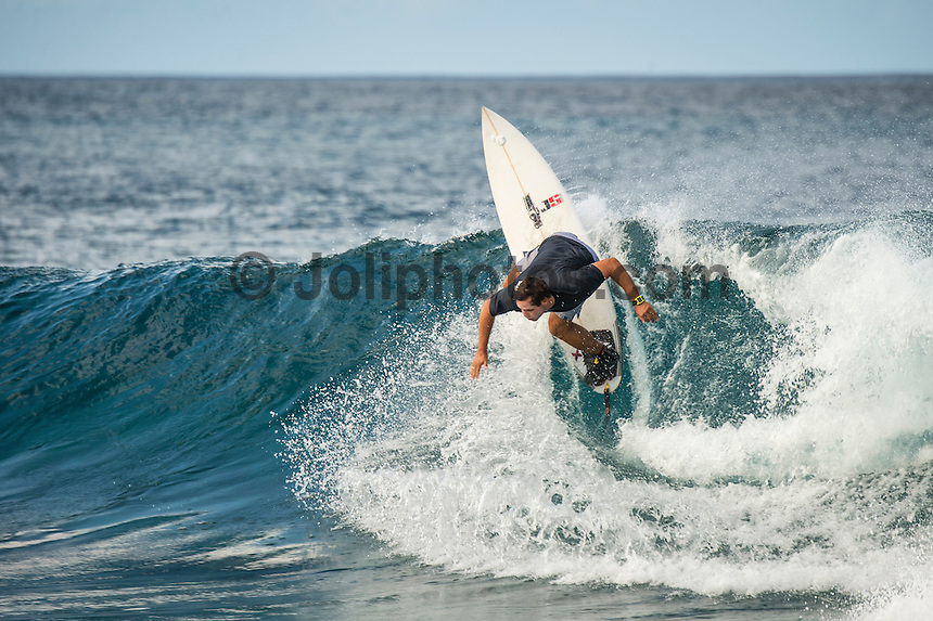 Anantara Resort, Maldives (Friday, June 26, 2015) A solid south swell was breaking across the island nation today with a number reef breaks producing good waves. The session this afternoon was at Nonyas in the South Male Atolls Photo: joliphotos.com