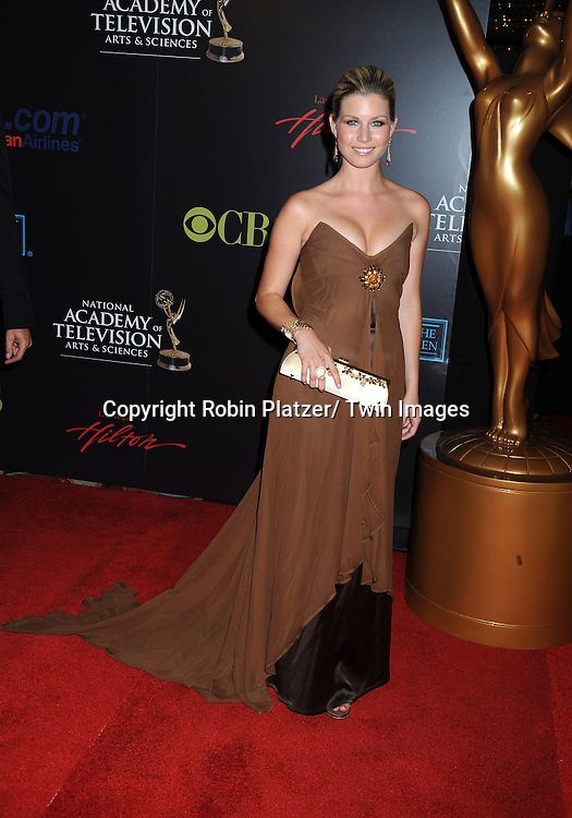 Stephanie Gatschet arriving at The 37th Annual Daytime Emmy Awards on June 27, 2010 at The Hilton in Las Vegas, Nevada.