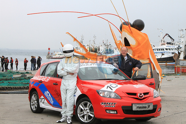 Alan Reynolds and the Stig from Brian Reynolds Mazda.Picture Fran Caffrey/www.newsfile.ie