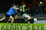 Paul Geaney Kerry in action against John Small Dublin in the National League in Austin Stack park on Saturday night.