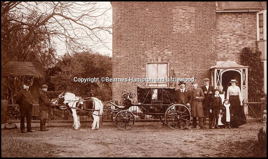 BNPS.co.uk (01202 558833)<br /> Pic: BearnesHampton&Littlewood/BNPS<br /> <br /> Entourage outside Lord Sanger's Margate home.<br /> <br /> A fascinating archive of photographs and documents relating to Britain's 'Greatest Showman' has emerged for sale.<br /> <br /> Lord George Sanger established one of the very first circus shows in Victorian times and was the British equivalent of P.T Barnum, the subject of the hit musical movie The Greatest Showman.<br /> <br /> Now an archive that includes black and white photos of crowds of people gathered outside a huge circus tent in Margate as well one of five elephants lined up outside the same venue is available for sale at auction in Devon.
