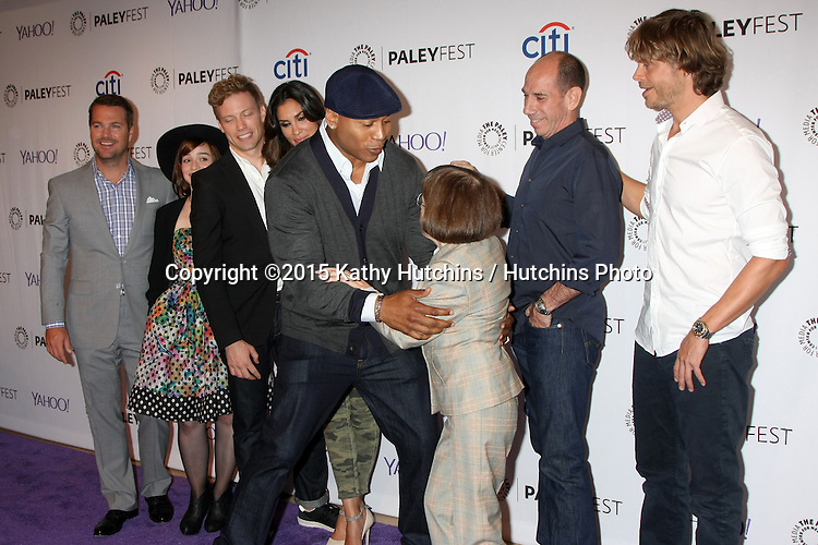 LOS ANGELES - SEP 11:  NCIS LA Cast, Chris O'Donnell, Renee Felice Smith, Barrett Foa, Daniela Ruah, LL Cool J, Miguel Ferrer, Linda Hunt, Eric Christian Olsen at the PaleyFest 2015 Fall TV Preview - NCIS: Los Angeles at the Paley Center For Media on September 11, 2015 in Beverly Hills, CA