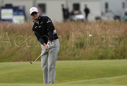 19.07.2015. Old Course, St Andrews, Fife, Scotland.  Zach Johnson of United States in action on the 17th hole during the third round of the 144th British Open Championship at the Old Course, St Andrews in Fife, Scotland.