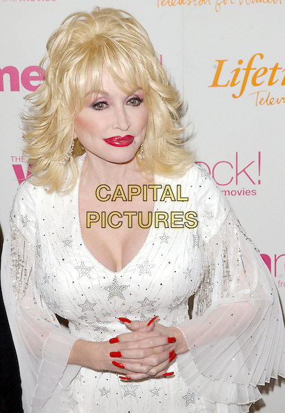 DOLLY PARTON.4th Annual Women Rock! Songs from the Movies Concert for the fight against breast cancer, Kodak Theatre .half length, make-up, nail varnish, polish, false nails, cleavage.www.capitalpictures.com.sales@capitalpictures.com.©Capital Pictures.