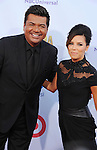 PASADENA, CA - SEPTEMBER 16: Eva Longoria and George Lopez arrive at the 2012 NCLR ALMA Awards at Pasadena Civic Auditorium on September 16, 2012 in Pasadena, California.