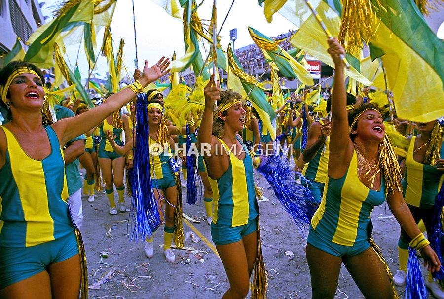 Desfile de carnaval da Imperatriz, Rio de Janeiro. 1986. Foto de Juca Martins.