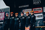 Boels Dolmans Cyclingteam at sign on before the start of the 2019 Liège-Bastogne-Liège Femmes, running 138.5km from Bastogne to Liege, Belgium. 28th April 2019<br /> Picture: ASO/Thomas Maheux | Cyclefile<br /> All photos usage must carry mandatory copyright credit (© Cyclefile | ASO/Thomas Maheux)