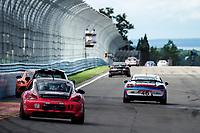 IMSA WeatherTech SportsCar Championship<br /> Sahlen's Six Hours of the Glen<br /> Watkins Glen International, Watkins Glen, NY USA<br /> Saturday 1 July 2017<br /> 17, Porsche, Porsche Cayman, ST, Spencer Pumpelly, Nick Galante 46, Porsche, Porsche Cayman GT4, GS, Ted Giovanis, Guy Cosmo<br /> World Copyright: Michael L. Levitt/LAT Images