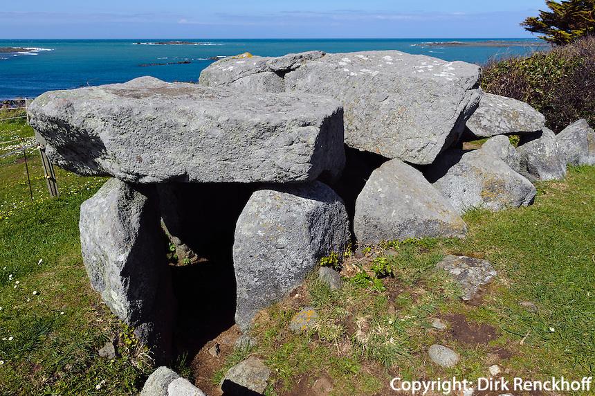 Dolmen Le Trepied, Insel Guernsey, Kanalinseln