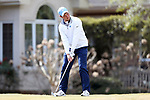 WILMINGTON, NC - MARCH 19: North Carolina's Ben Griffin tees off on the Ocean Course eighth hole. The first round of the 2017 Seahawk Intercollegiate Men's Golf Tournament was held on March 19, 2017, at the Country Club of Landover Nicklaus Course in Wilmington, NC.
