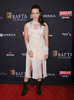 06 January 2018 - Beverly Hills, California - Katherine Langford. 2018 BAFTA Tea Party held at The Four Seasons Los Angeles at Beverly Hills in Beverly Hills. <br /> CAP/ADM/BT<br /> &copy;BT/ADM/Capital Pictures