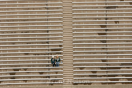 Trent Nelson  |  The Salt Lake Tribune.BYU vs. Colorado State, college football, Saturday, November 13, 2010. fans in empty stands pre-game