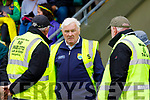 Steward Maurice Spillane at the Kerry Senior Hurling championship before the game.